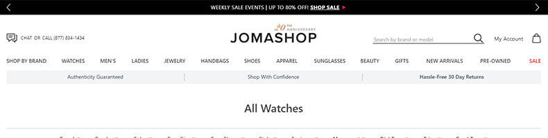 Jomashop watches