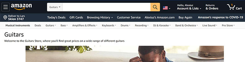Amazon guitars